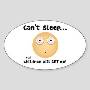 Children Will get Me Oval Sticker