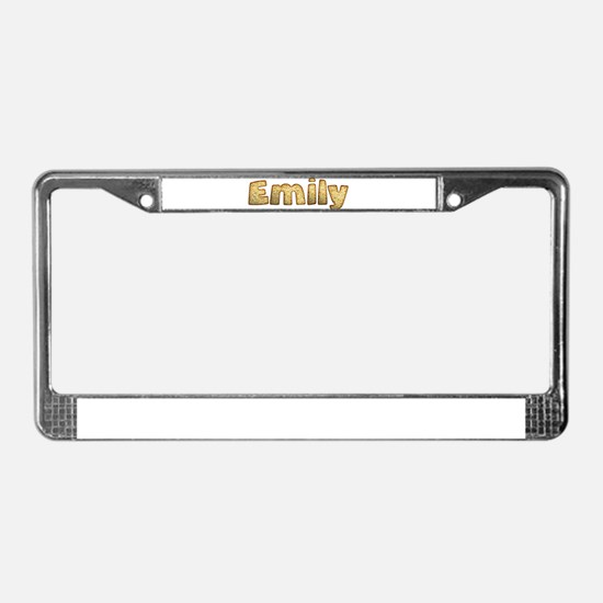 Emily Toasted License Plate Frame