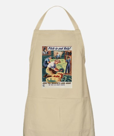 WWII POSTER PITCH IN AND HELP! BBQ Apron