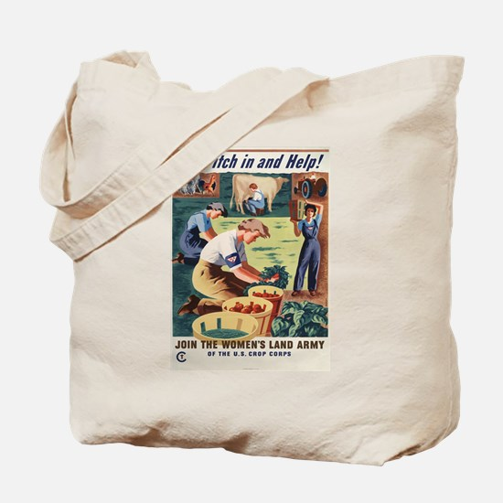 WWII POSTER PITCH IN AND HELP! Tote Bag