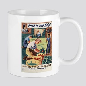 WWII POSTER PITCH IN AND HELP! Mug