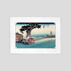 Fukuroi - Hiroshige Ando - 1833 - woodcut 5'x7'Are