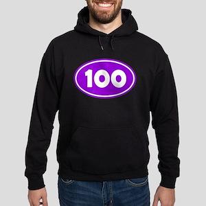 100k Oval - Purple Hoodie (dark)