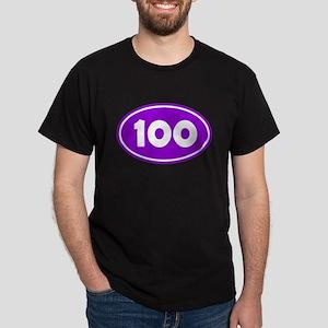 100k Oval - Purple Dark T-Shirt