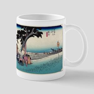Fukuroi - Hiroshige Ando - 1833 - woodcut Mugs
