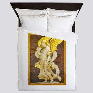 Golden Angel Queen Duvet