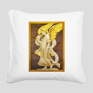 Golden Angel Square Canvas Pillow