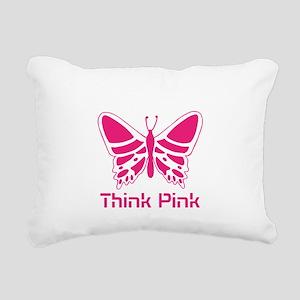 pink butterfly Rectangular Canvas Pillow