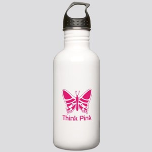 pink butterfly Stainless Water Bottle 1.0L