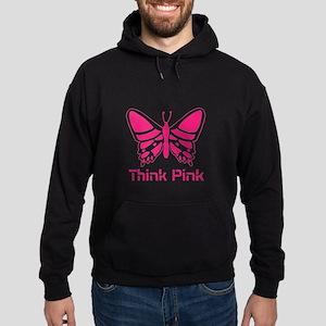 pink butterfly Hoodie (dark)