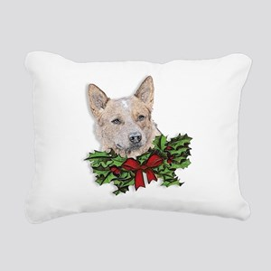 Red Heeler Rectangular Canvas Pillow