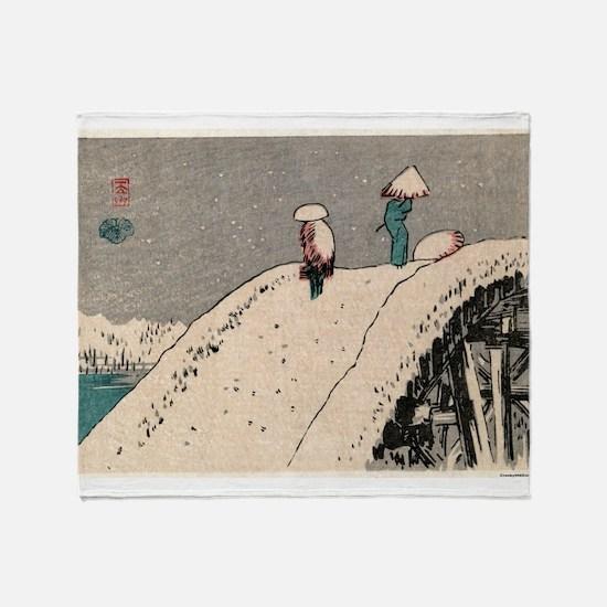 Fukeiga 12 - Hiroshige Ando - 1858 - woodcut Throw