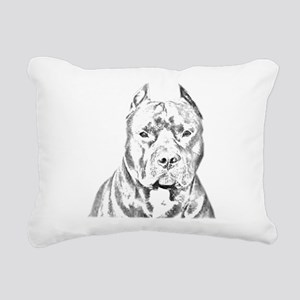 Pit Bull Negative Rectangular Canvas Pillow
