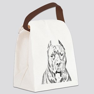 Pit Bull Negative Canvas Lunch Bag