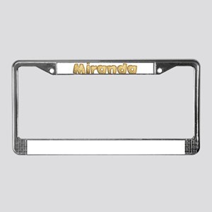 Miranda Toasted License Plate Frame
