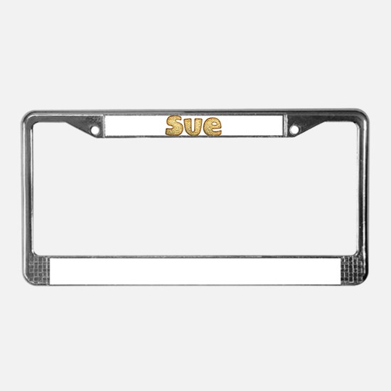 Sue Toasted License Plate Frame