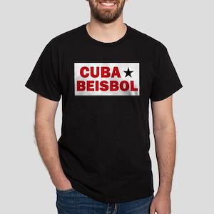Cuba Beisbol Black T-Shirt
