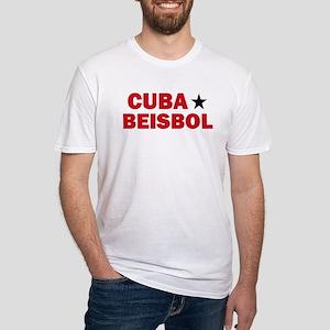 Cuba Beisbol Fitted T-Shirt