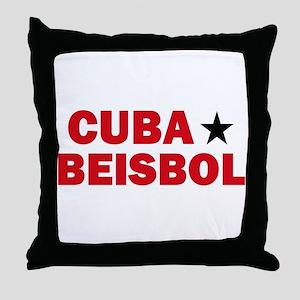 Cuba Beisbol Throw Pillow
