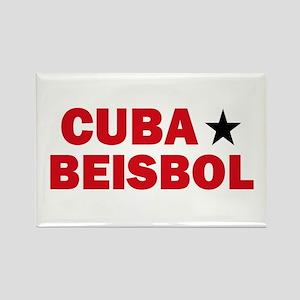 Cuba Beisbol Rectangle Magnet