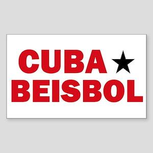 Cuba Beisbol Rectangle Sticker
