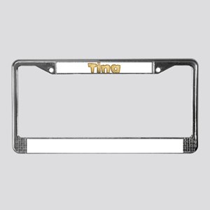 Tina Toasted License Plate Frame