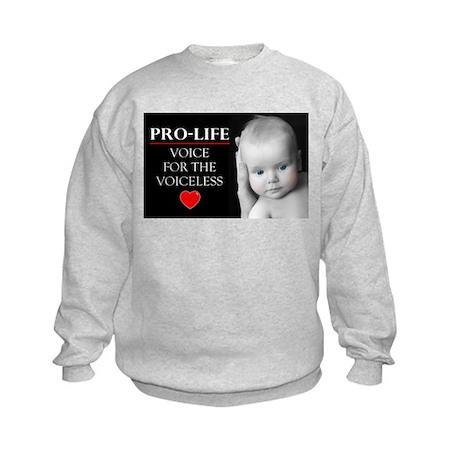 Pro-Life Voice for the Voiceless Kids Sweatshirt