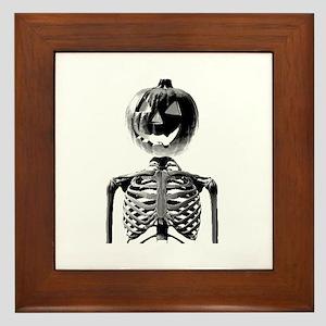 Halloween Pumpkin head Framed Tile