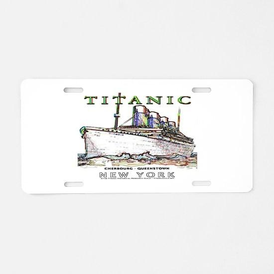 Titanic Neon (white) Aluminum License Plate