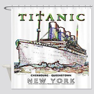 Titanic Neon (white) Shower Curtain