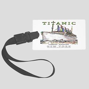 Titanic Neon (white) Large Luggage Tag w/ID
