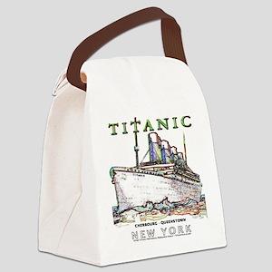 Titanic Neon (white) Canvas Lunch Bag