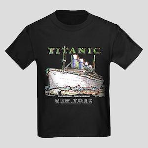 Titanic Neon (white) Kids Dark T-Shirt