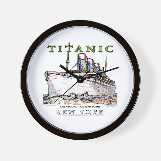 Titanic Neon (white) Wall Clock