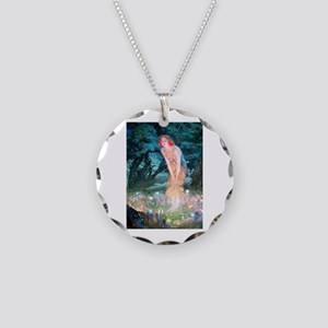 Queen of the Fairies Necklace Circle Charm