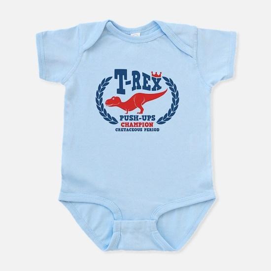 T-Rex Loves Push-ups Infant Bodysuit