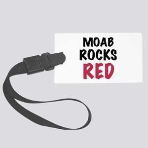 Moab rocks red Large Luggage Tag