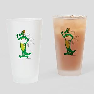 Flying Gator Drinking Glass