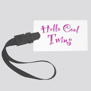 Hella Cool Twins Large Luggage Tag