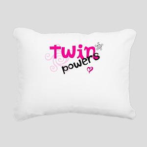 Twin Powers Rectangular Canvas Pillow