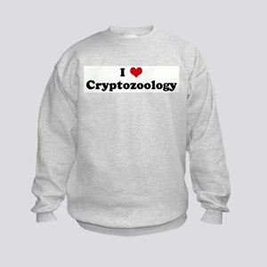 I Love Cryptozoology Kids Sweatshirt
