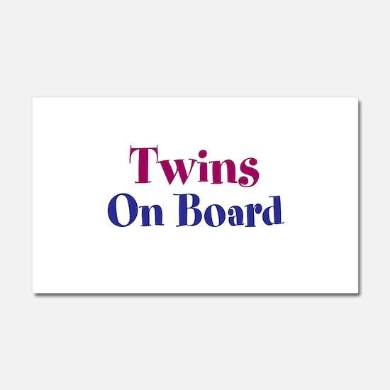 Twins On Board Car Magnet 20 x 12