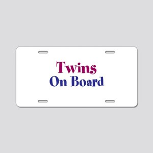 Twins On Board Aluminum License Plate