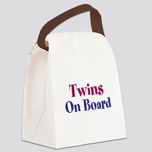 Twins On Board Canvas Lunch Bag