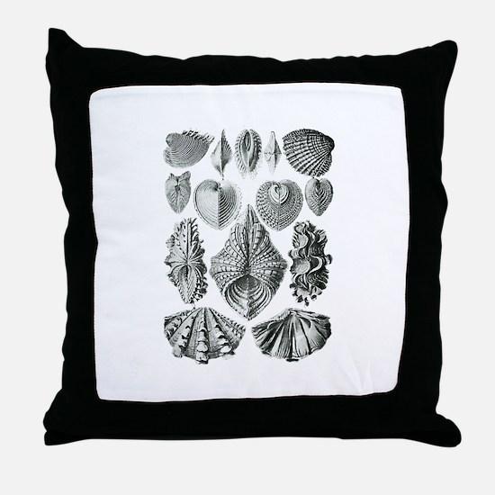 Shell Fossils Throw Pillow