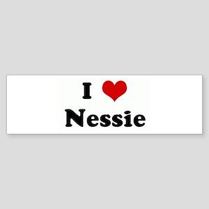 I Love Nessie Bumper Sticker