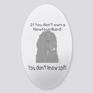 Newfoundland You Dont Know Spit Sticker (Oval)