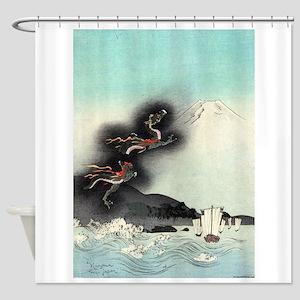Dragon Rising Over Mount Fuji - anon - 1890 - wood