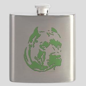 green pit head Flask