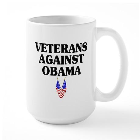 Veterans against Obama (old) - Large Mug